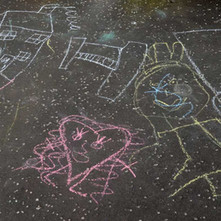 Childrens pavement art, Dalmuir  - 18th April 2014