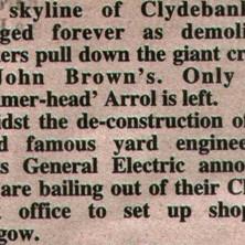 A newspaper cutting.  -  26th April 2001