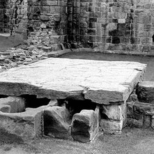 My young nephew, Stephen, looking at the stone coffins in the ruins of Cathedral of St Andrews. It is Stephen's first visit to St Andrews. - Sunday 23rd July 1978