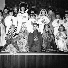 Nativity Scene in Napier Hall, Old Kilpatrick in 1957/58  -  Photo from Agnes Foley (nee Tonner).