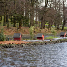 The island in the duck pond is being restored. Dalmuir P- 5th February 2013