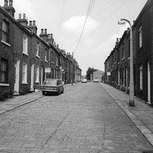 Coronation-style street in Wakefield. - Yorkshire 12th july 1979