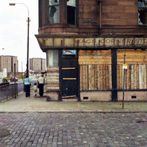 Mac's Corner shop, due for demolition. My sisters and I used to go here for our sweeties before going over to the Bank Cinema on Glasgow Road. - South Elgin Street, Clydebank 6th August 1977