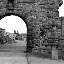 The graveyard at the Cathedral of St Andrews. - 16th July 1978