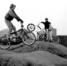 The track was really just piles of dirt but the boys loved it. - 17th February 1985 Drumry