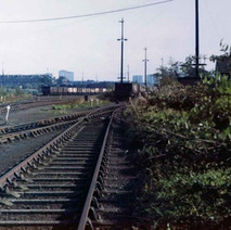 Rothesay Dock train tracks. - Photo by Tommy Quinn. October 1978