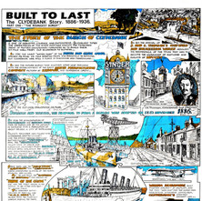 Posters that were brought out in 1986 to commemorate Clydebank's 100th Anniversary as a Burgh by Clydebank District Libraries. My friend David Parker gave me a loan of posters. They were drawn by Edward H. Chisnall.