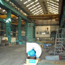 Inside the massive sheds.  -  9th April 2002