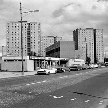 The Clydeholm Shopping Centre with the Clydebank Glazing Company next to the chip shop and cafe. - Photo by William Duncan