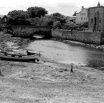 The Kinness Burn was used as a natural harbour before the current harbour was built.  -  St Andrews  -  16th July 1978