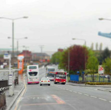 Kilbowie Road  -  I call this photo 'Wet Day in Toytown' - 10th May 2012