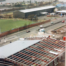 New supermarket being constructed at Hamilton Street, Clydebank.  -  1994