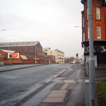 Glasgow Road from the bottom of Whitecrook Street.  -  27th January 2002
