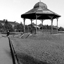 The bandstand in Whitecrook Park, Originally located in Dalmuir Park, it was moved to Whitecrook Park in 1935. In 1983, it was moved to the Shopping Centre. As kids, we played on it all the time. - Saturday 3rd March 1979