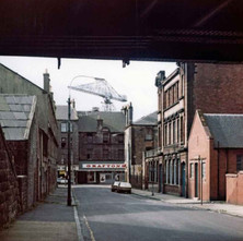Looking down Hume Street towards Glasgow Road. - Photo by Tommy Quinn.