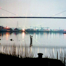 Erskine Bridge photographed from Bowling in the morning, on my way home from the night shift. - 1980
