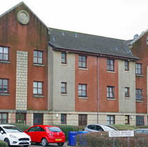 Flats on Fleming Avenue, Whitecrook. Before these were built, there used to be a whole row of Co-operative shops, covering everything that was  needed in a local community.  -  1st February 2021