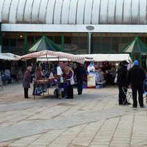 The Wednesday Market on the recently resurfaced south side of the canal. 26th January 2011