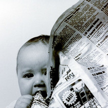 Michael, my son, digesting the news. March 1981