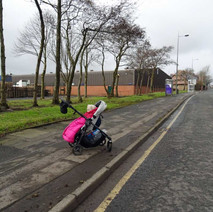 This is about the same location on Glasgow Road that I took a photo of my daughter in her pram when they were building the Expressway in 1979. -   28th February 2015