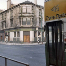 The Clydebank Bar with a Corporation bus coming in on the right. - Photo by Tommy Quinn.