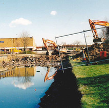 British Waterways' Millennium Project saw the regeneration of the canal and it was re-opened to boats in 2001.  -  2000