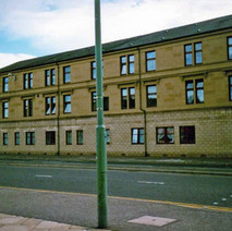 Refurbished tenements on Dumbarton Road. Clydebank 1987. - Photos taken by Sarah from California, USA