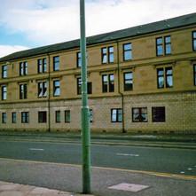 Refurbished tenements on Dumbarton Road. Clydebank 1987. - Photos taken by Sarah from California, USA