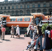 Glasgow got its first glimpse of the new underground trains. A display was set up in George Square.  -  25th June 1977