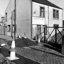 William Latto & Son, roofing contractors. Notice the cobbled street. - Saturday 3rd March 1979