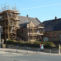 Old church on Kilbowie Road is being renovated and turned into an Italian restaurant. - 24th march 2011