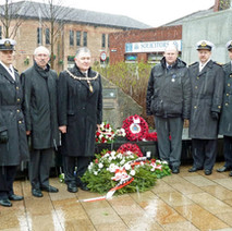 Denis Agnew with the Polish representatives at Solidarity Plaza. - 12th March 2011