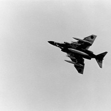 We stayed under the flight path of Glasgow Airport and the occasional jet fighter would fly over and frighten us with the noise. - April 1981