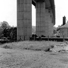 The Erskine Bridge is a cable-stayed box girder bridge spanning the River Clyde. July 1978