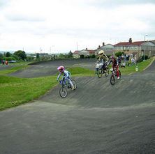 Having a racing good time. Drumry BMX Track. - 21st June 2009