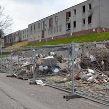 The properties, at North Mountblow, are being levelled as part of the West Dunbartonshire Council's plans to bring its homes up to the Scottish Housing Quality Standard by 2015.  - 15th February 2013