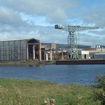 A view over the Clyde.  -  4th September 2001