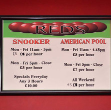 Sign in the old REDS Snooker Club at Three Queens Square, which is going to be the new Awestruck Art Academy. 27th February 2018