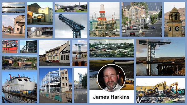 Collage of James Harkin's Clydebank photos