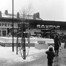 Welly boot weather at the Clyde Shopping Centre.  -  2nd February 1980