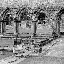 Looking through the arches in the ruins of the Cathedral of St Andrews. - Sunday 23rd July 1978