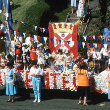 A Clydebank float in Parkhall. Clydebank Centenary Celebrations 1986 - photo by Sam Gibson