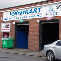 Scotkart, indoor Go Kart RacingTrack in John Knox Street, in the former UCBS factory.  -  9th January 2020