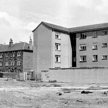 North Bank Street with the tenements and flats on John Knox Street. - Photo by William Duncan