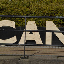 Clydebank Can Project at the bandstand. Its a Making Places Project, gathering memories of past canal life, thoughts on existing qualities and ideas for future use. - 24th March 2018