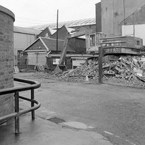 John Brown's gatehouse being demolished. If you look through, you can see a small fire station. John Brown Shipyard had it's own ambulance and fire engine and my dad was one of the drivers for many years. - Saturday 19th August 1978