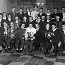 The Admiralty Pub Darts Team. Jimmy Ward is third from the right in the front row. - Photo supplied by Jimmy and Patricia Ward.