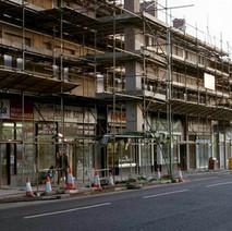 Kilbowie Road under restoration.  -  December 1983