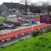 Sinkhole on Kilbowie Road at the Hardgate.  - 10th April 2017