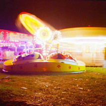A time exposure of some of the rides. - November 1977 Clydebank